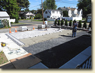 Paver Driveway and Retaining Wall